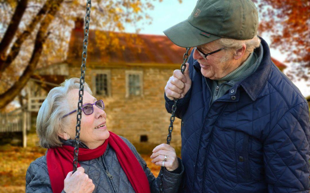 ouder stel samen